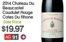 2014 Chateau Du Beaucastel Coudulet Rouge Cotes Du Rhone