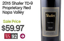 2015 Shafer TD-9 Proprietary Red Napa Valley