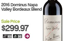 2016 Dominus Napa Valley Bordeaux Blend.