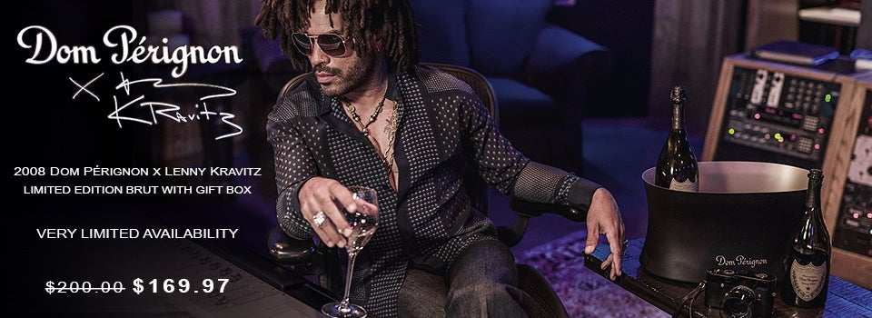 2008 Dom Perignon X Lenny Kravitz Limited Edition Brut With Gift Box