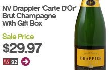 Drappier Carte D'Or Brut Champagne with Gift Box.
