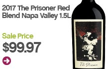 2017 The Prisoner Red Blend Napa Valley.