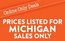 Disclaimer: Prices Listed For Michigan Sale Only