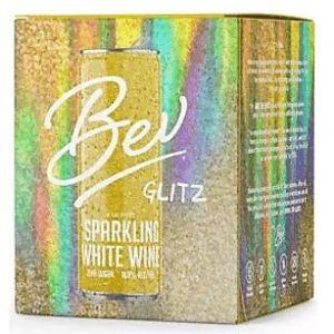 Bev 'Glitz' California Sparkling White Wine 4x250ml