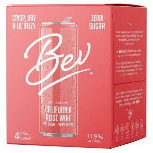 Bev California Rosé Wine 4x250ml