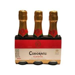 Codorniu Clasico Brut Cava Spain 187ml 3-Pack