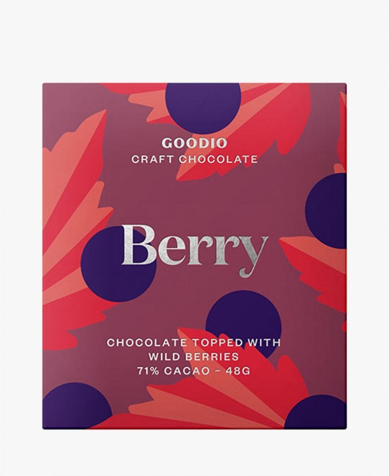 Goodio Chocolate Marja Berry 71% Chocolate Bar 1.7oz