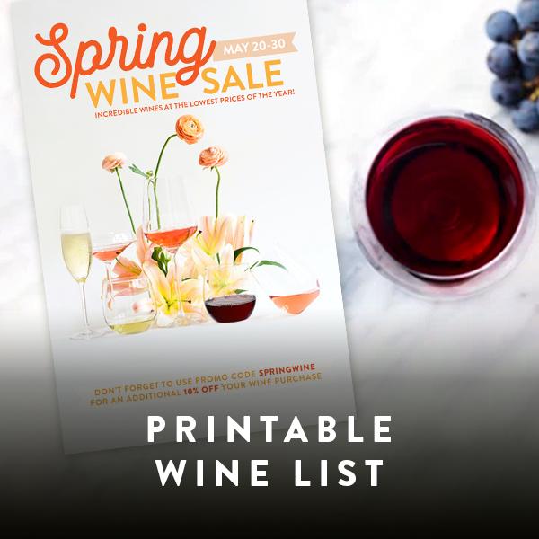 printable wine list