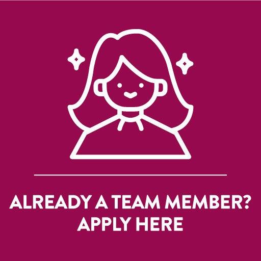 Already a team member? Apply here.